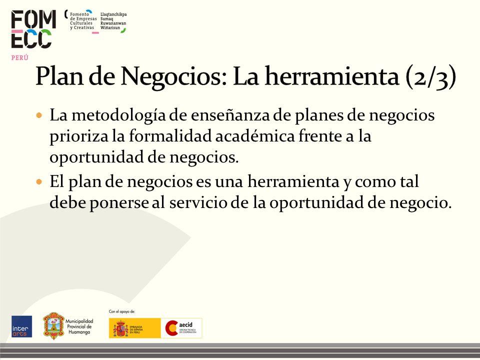 Plan de Negocios: La herramienta (2/3)
