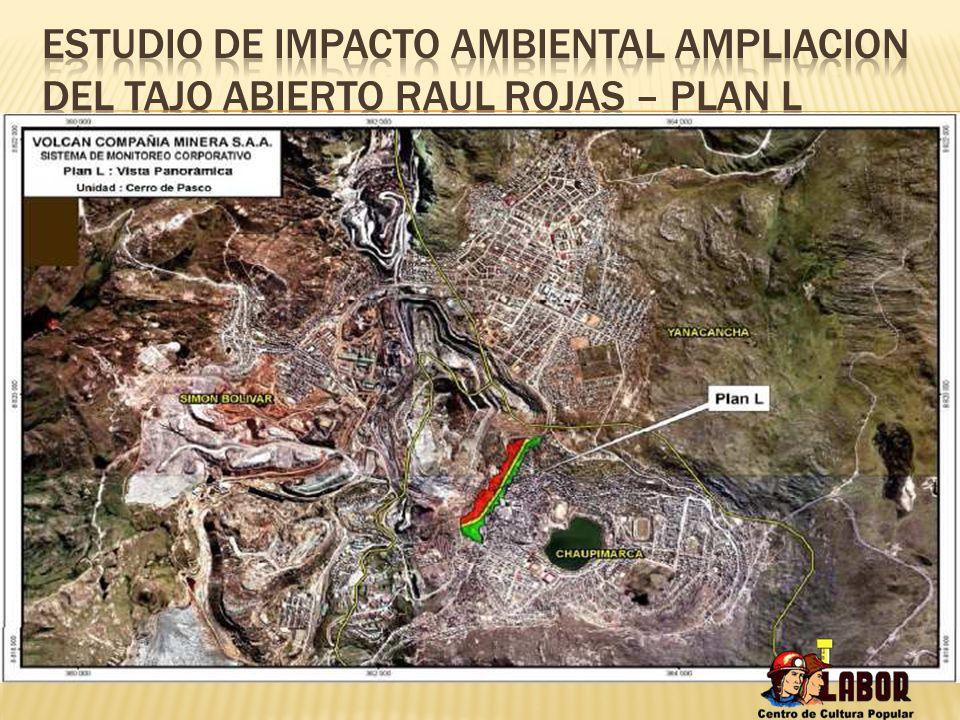 ESTUDIO DE IMPACTO AMBIENTAL AMPLIACION DEL TAJO ABIERTO RAUL ROJAS – PLAN L