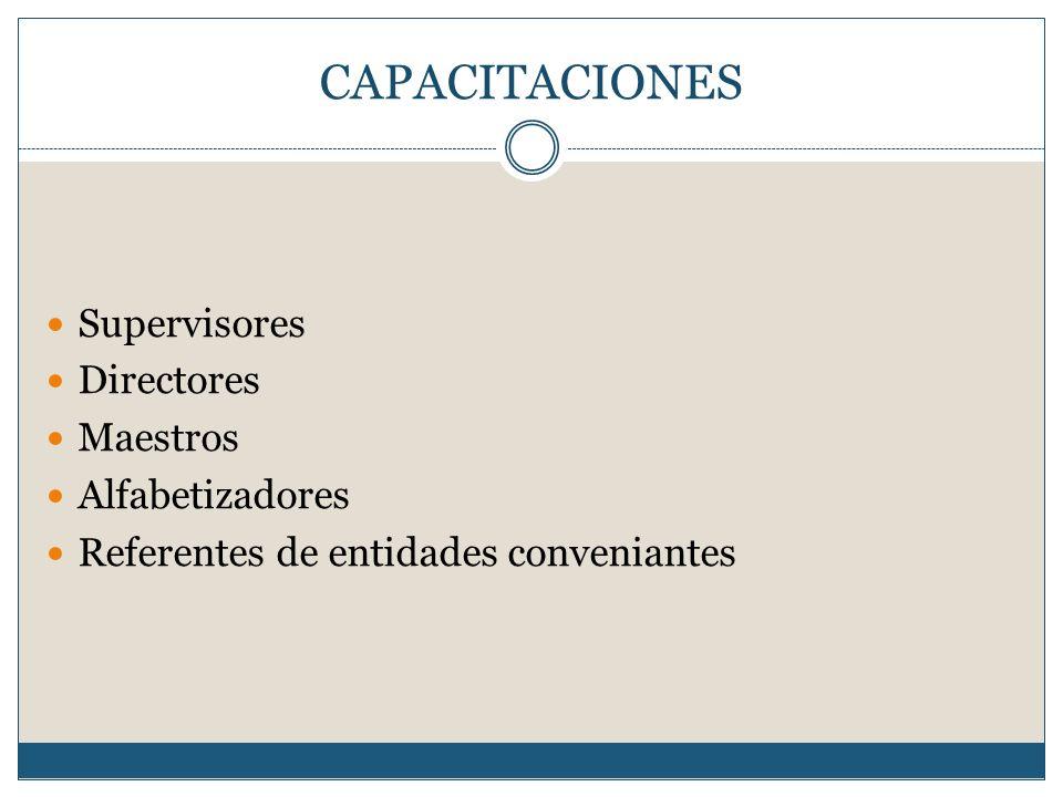 CAPACITACIONES Supervisores Directores Maestros Alfabetizadores