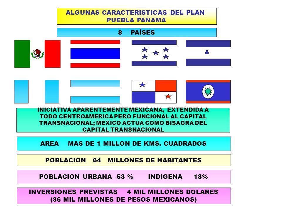 ALGUNAS CARACTERISTICAS DEL PLAN PUEBLA PANAMA