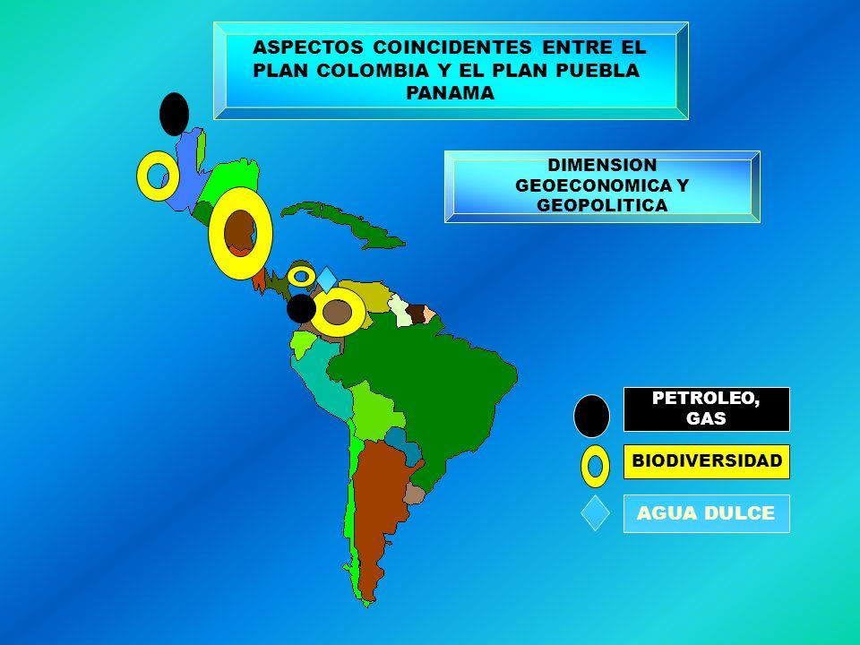 ASPECTOS COINCIDENTES ENTRE EL PLAN COLOMBIA Y EL PLAN PUEBLA PANAMA