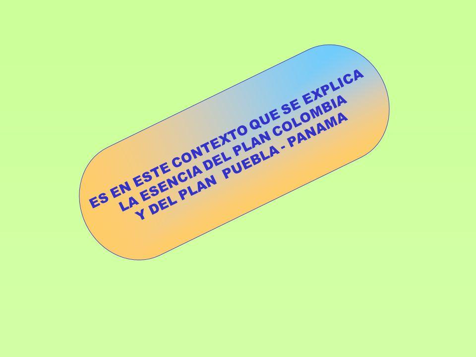 ES EN ESTE CONTEXTO QUE SE EXPLICA LA ESENCIA DEL PLAN COLOMBIA