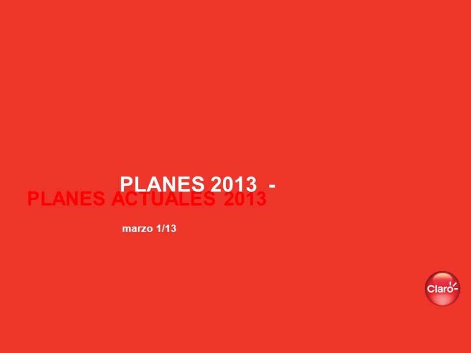 PLANES 2013 - marzo 1/13 PLANES ACTUALES 2013