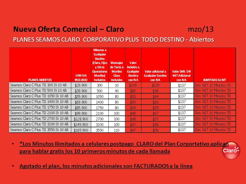 Nueva Oferta Comercial – Claro mzo/13
