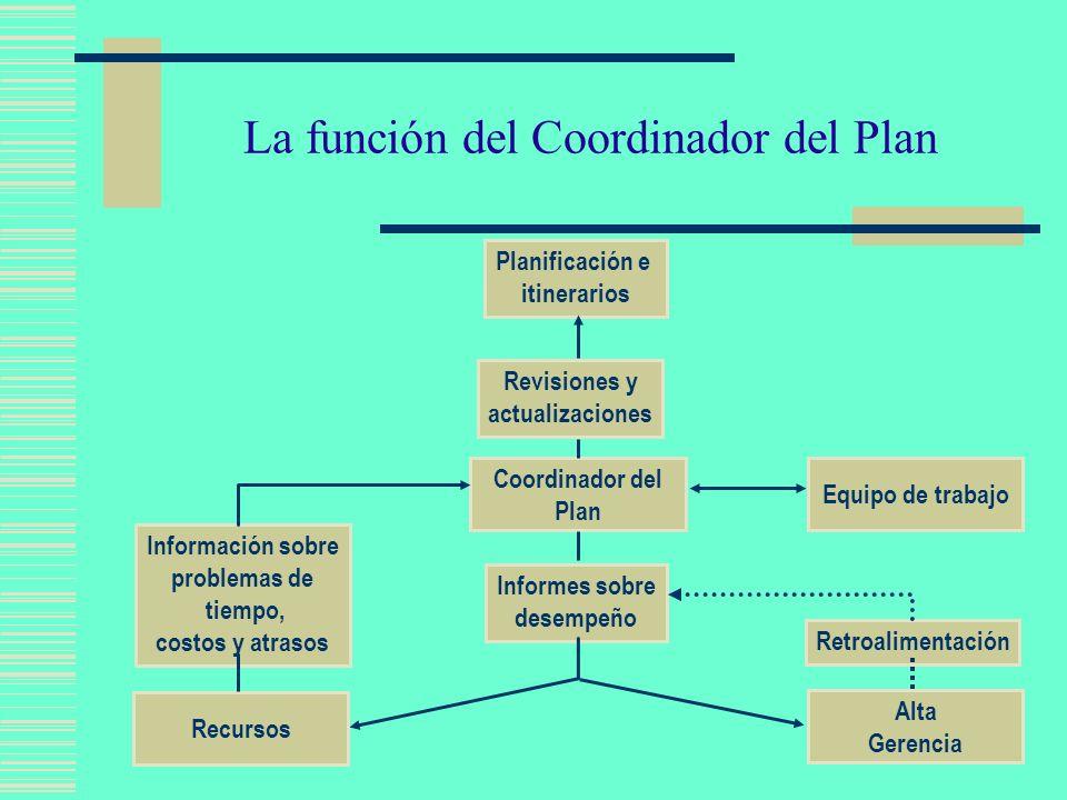 La función del Coordinador del Plan