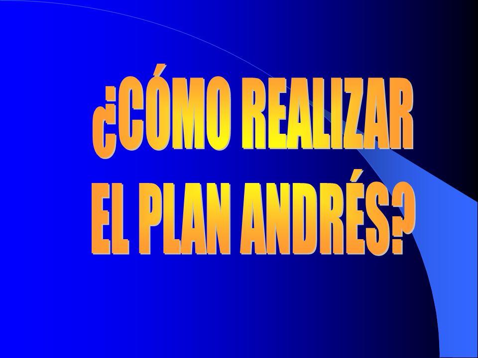 ¿CÓMO REALIZAR EL PLAN ANDRÉS