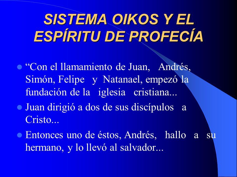 SISTEMA OIKOS Y EL ESPÍRITU DE PROFECÍA
