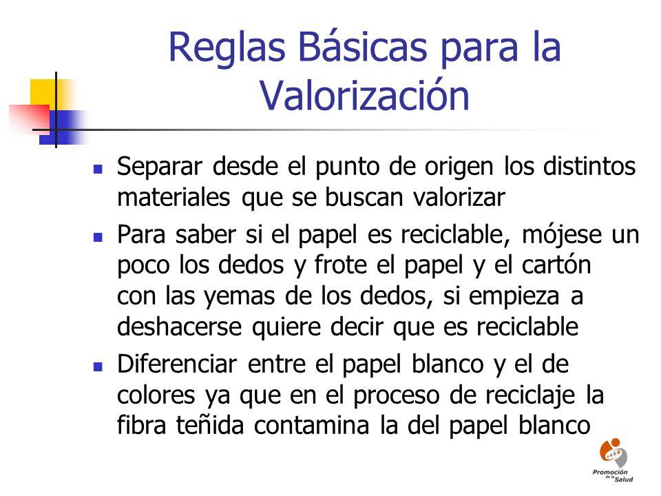 Reglas Básicas para la Valorización
