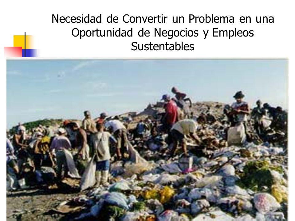 Necesidad de Convertir un Problema en una Oportunidad de Negocios y Empleos Sustentables