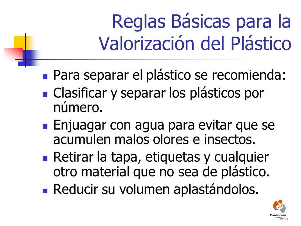 Reglas Básicas para la Valorización del Plástico