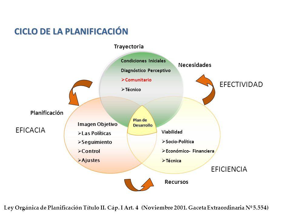 CICLO DE LA PLANIFICACIÓN