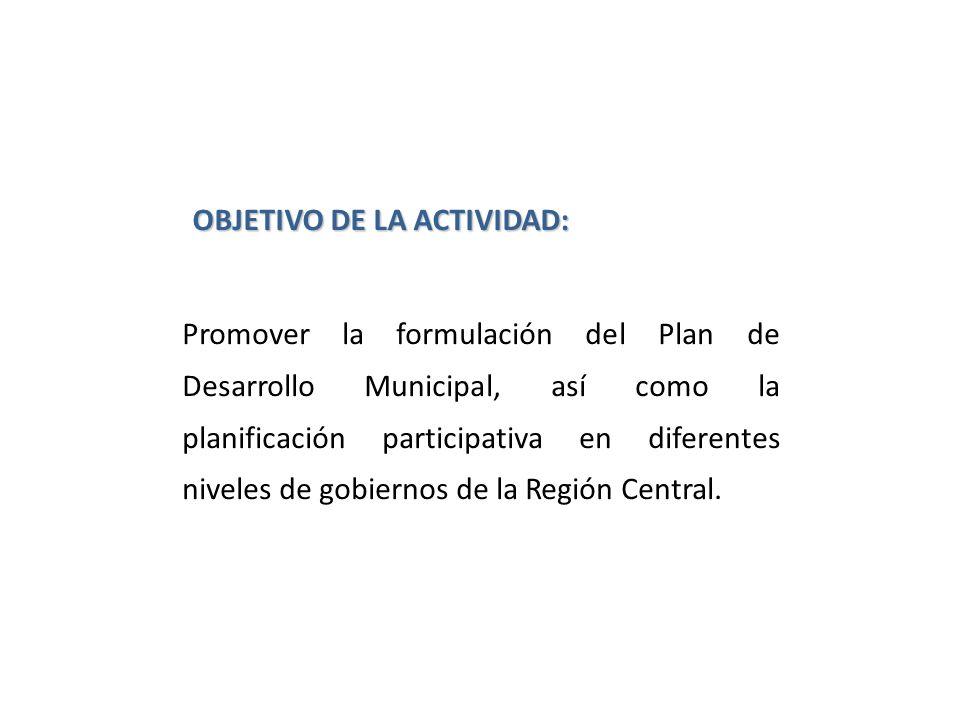 OBJETIVO DE LA ACTIVIDAD: