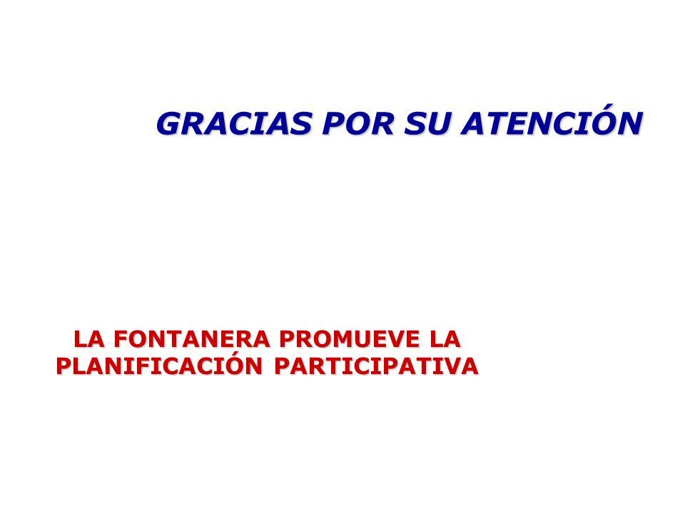 LA FONTANERA PROMUEVE LA PLANIFICACIÓN PARTICIPATIVA