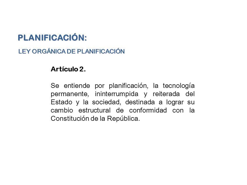 PLANIFICACIÓN: Artículo 2.