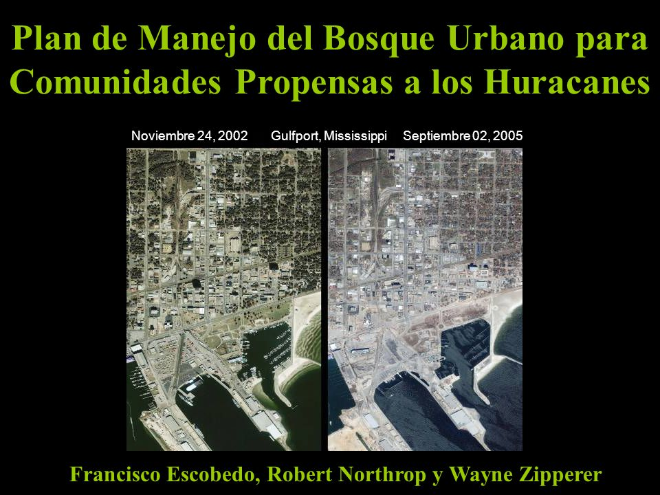 Francisco Escobedo, Robert Northrop y Wayne Zipperer