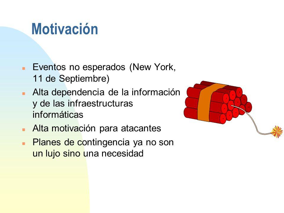 Motivación Eventos no esperados (New York, 11 de Septiembre)
