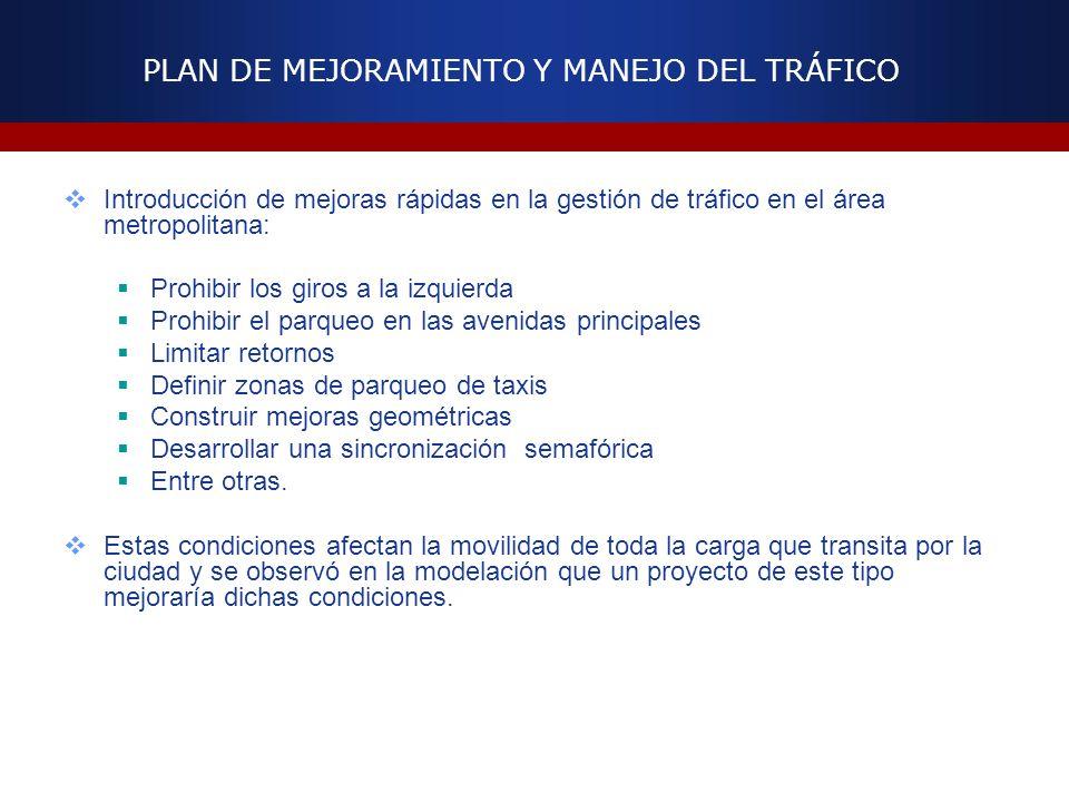 PLAN DE MEJORAMIENTO Y MANEJO DEL TRÁFICO