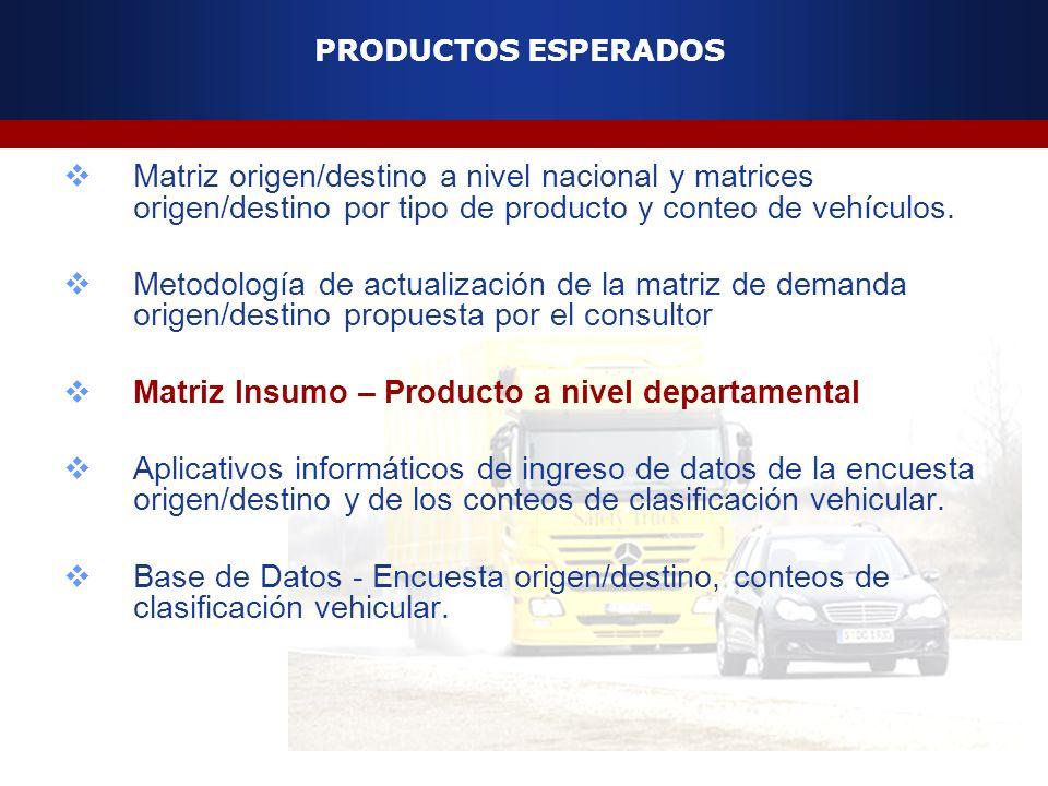 Matriz Insumo – Producto a nivel departamental
