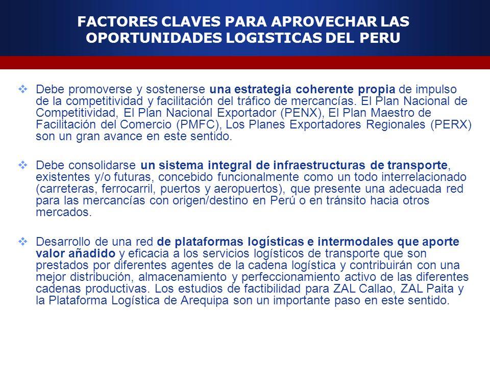 FACTORES CLAVES PARA APROVECHAR LAS OPORTUNIDADES LOGISTICAS DEL PERU