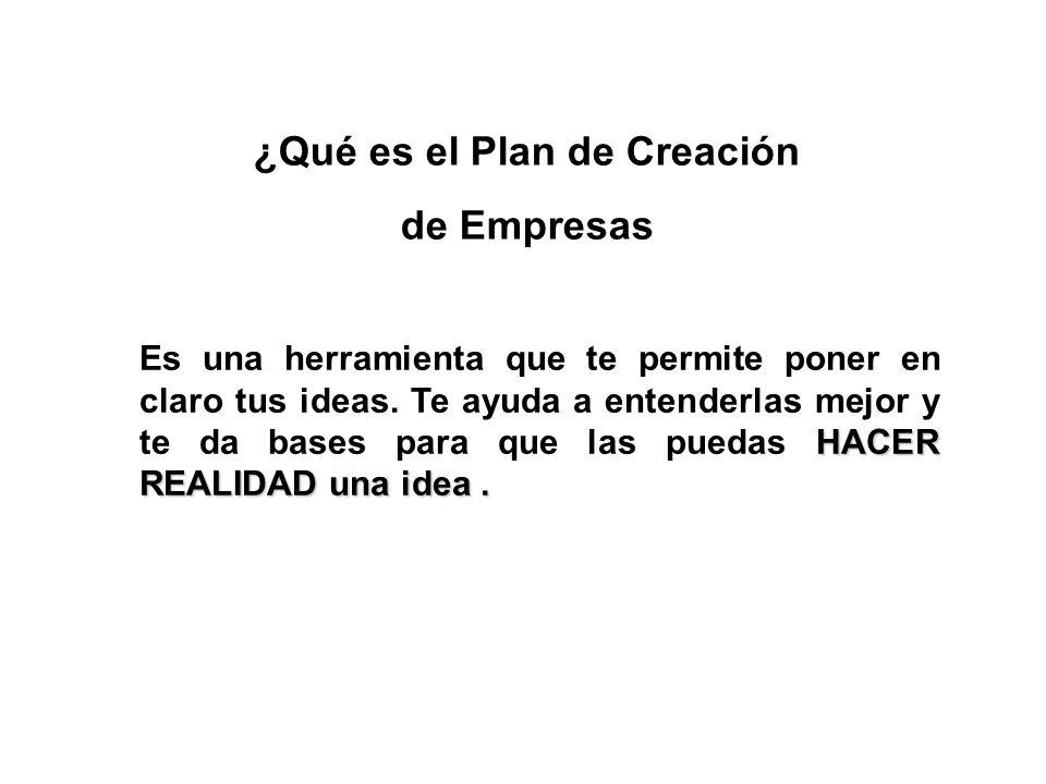 ¿Qué es el Plan de Creación