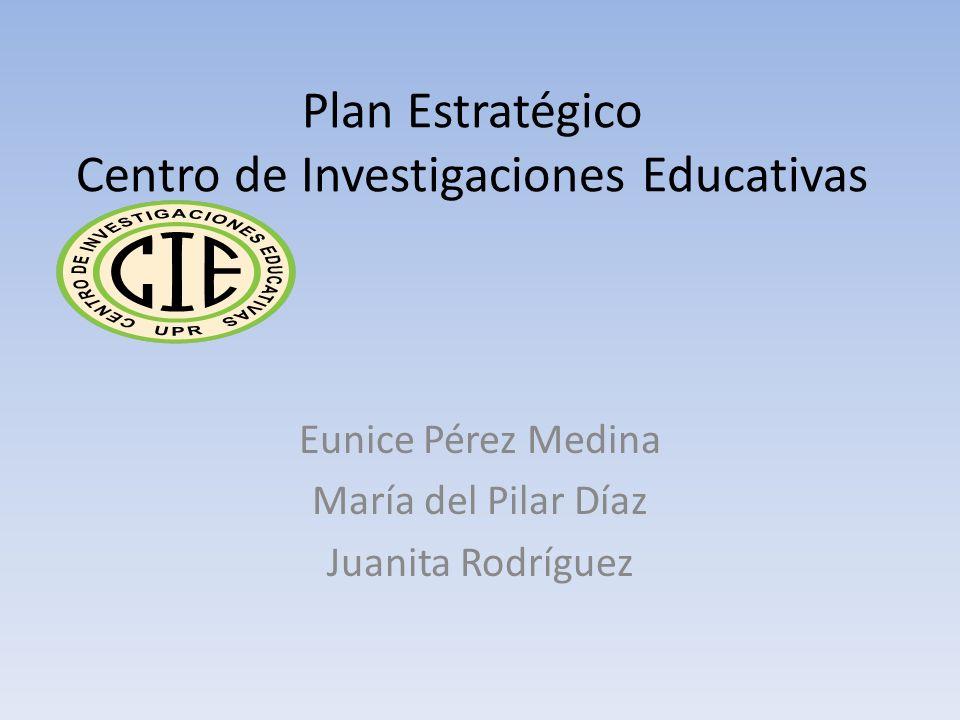 Plan Estratégico Centro de Investigaciones Educativas