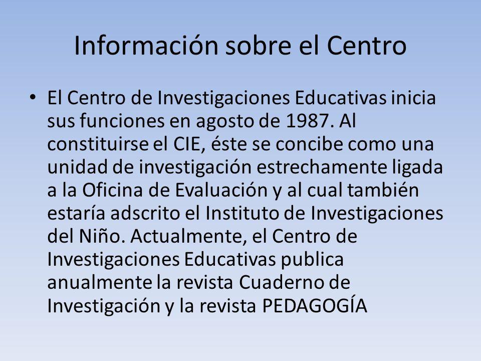 Información sobre el Centro