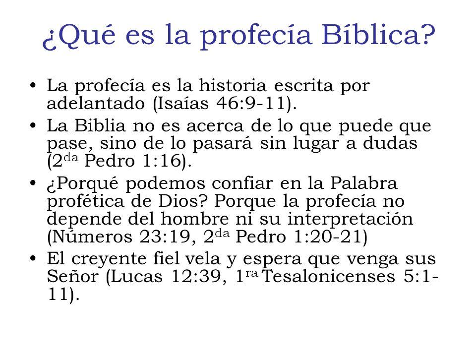 ¿Qué es la profecía Bíblica