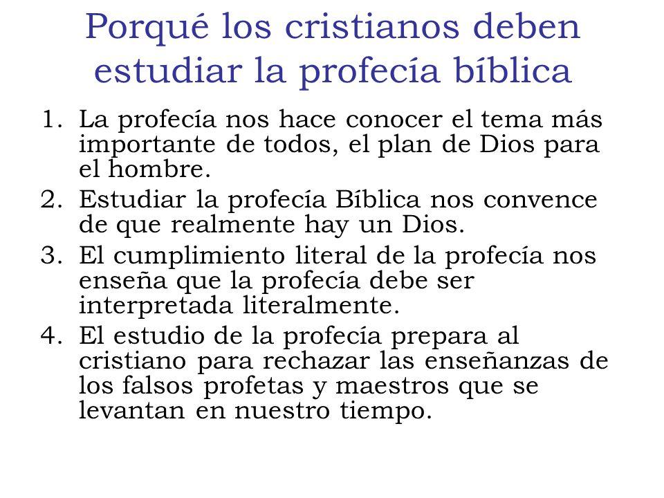Porqué los cristianos deben estudiar la profecía bíblica