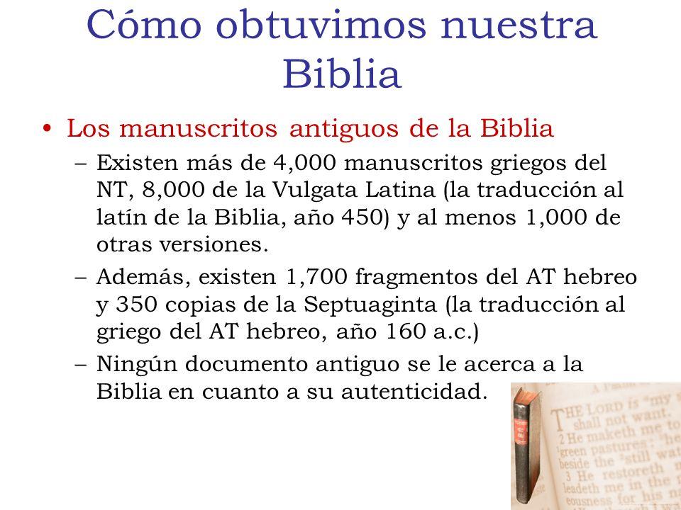 Cómo obtuvimos nuestra Biblia