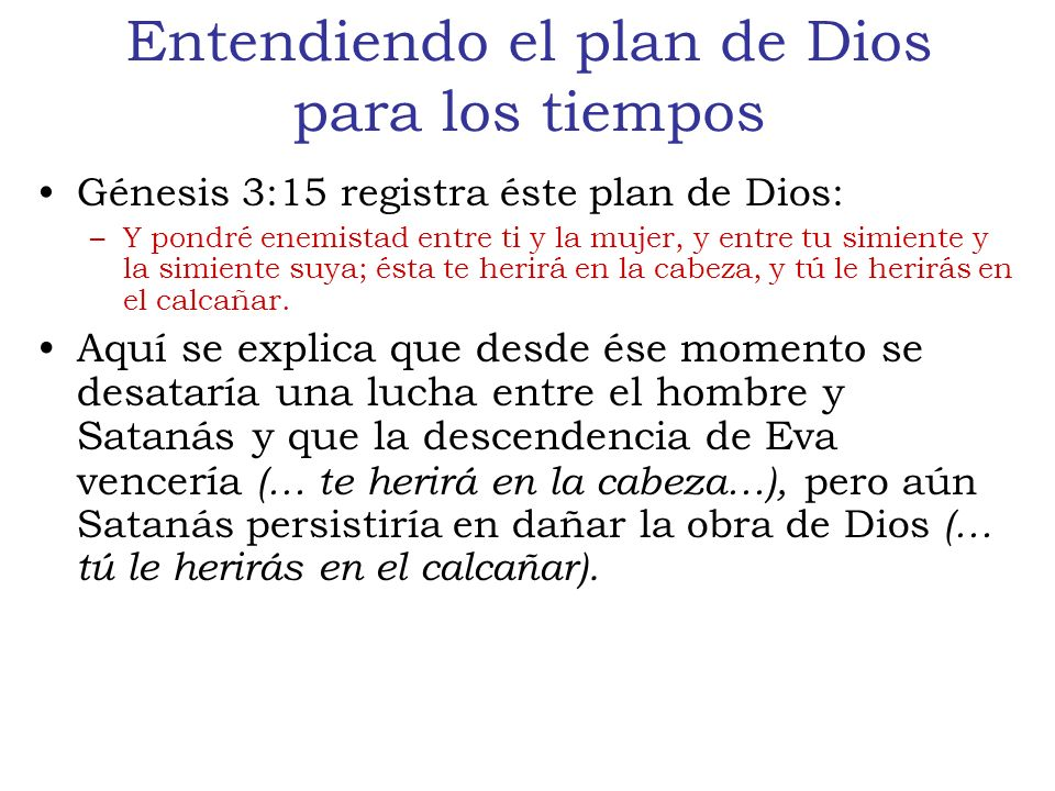 Entendiendo el plan de Dios para los tiempos