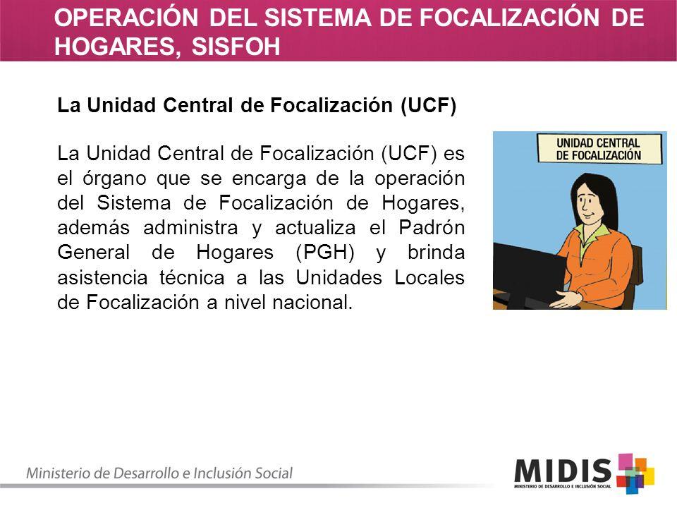 OPERACIÓN DEL SISTEMA DE FOCALIZACIÓN DE HOGARES, SISFOH