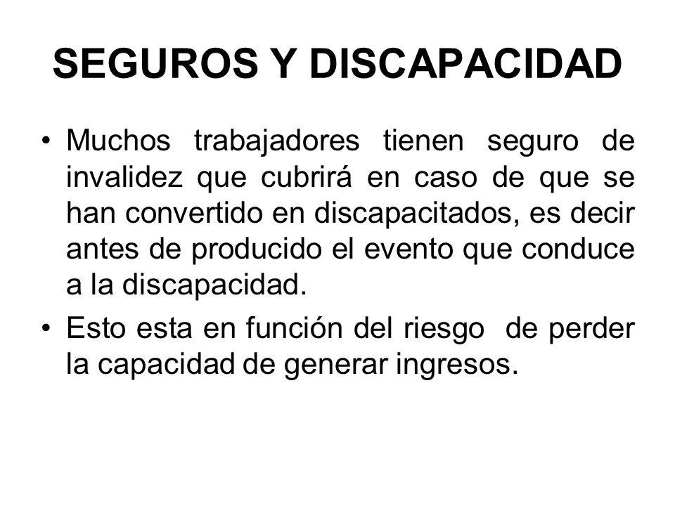 SEGUROS Y DISCAPACIDAD