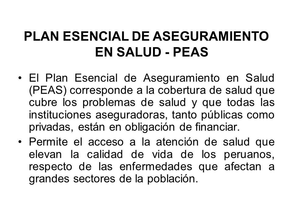 PLAN ESENCIAL DE ASEGURAMIENTO EN SALUD - PEAS