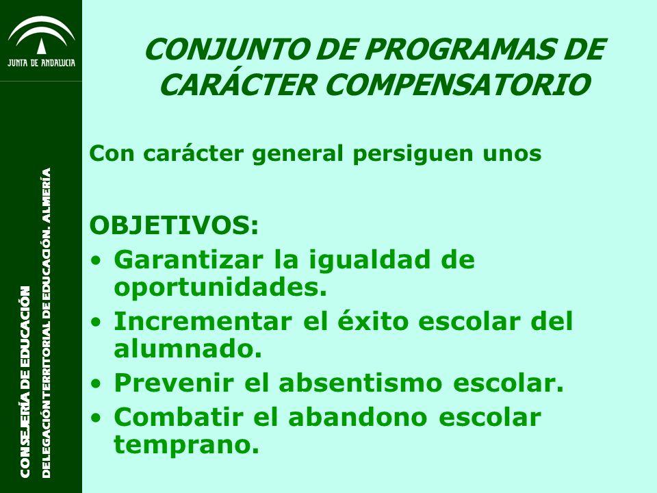 CONJUNTO DE PROGRAMAS DE CARÁCTER COMPENSATORIO