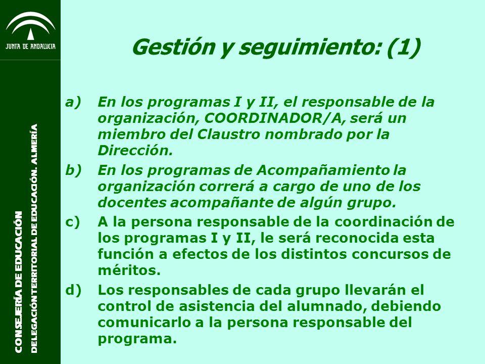 Gestión y seguimiento: (1)