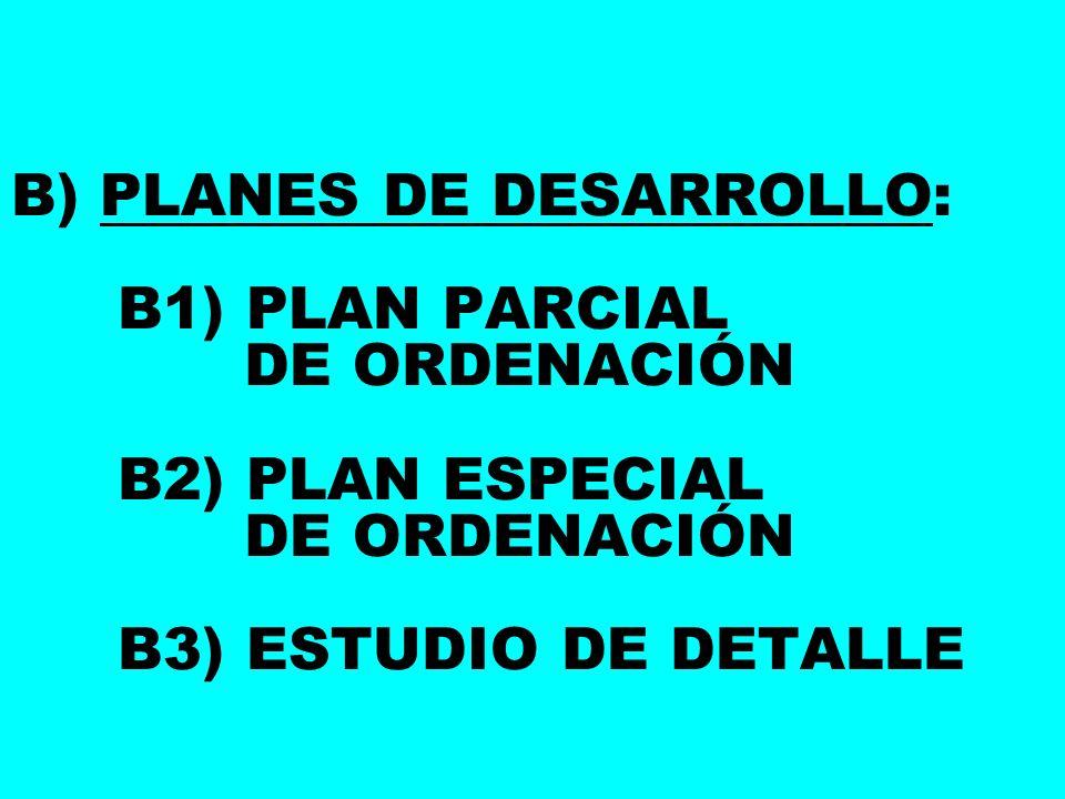 B) PLANES DE DESARROLLO:. B1) PLAN PARCIAL. DE ORDENACIÓN