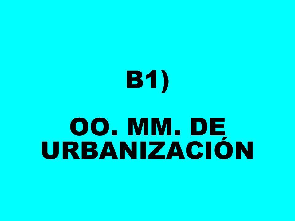 B1) OO. MM. DE URBANIZACIÓN