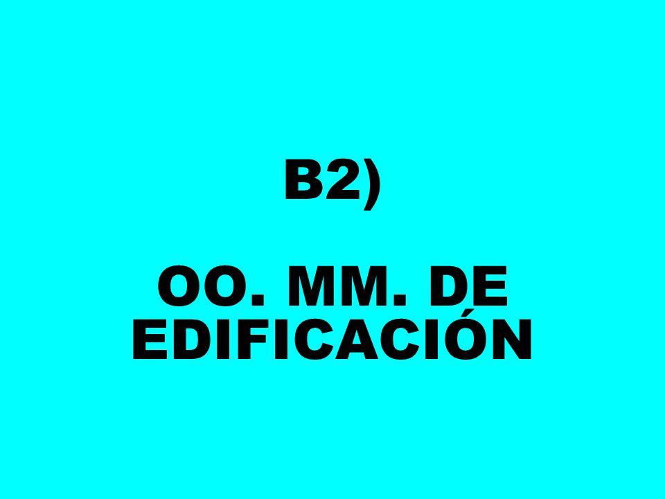 B2) OO. MM. DE EDIFICACIÓN