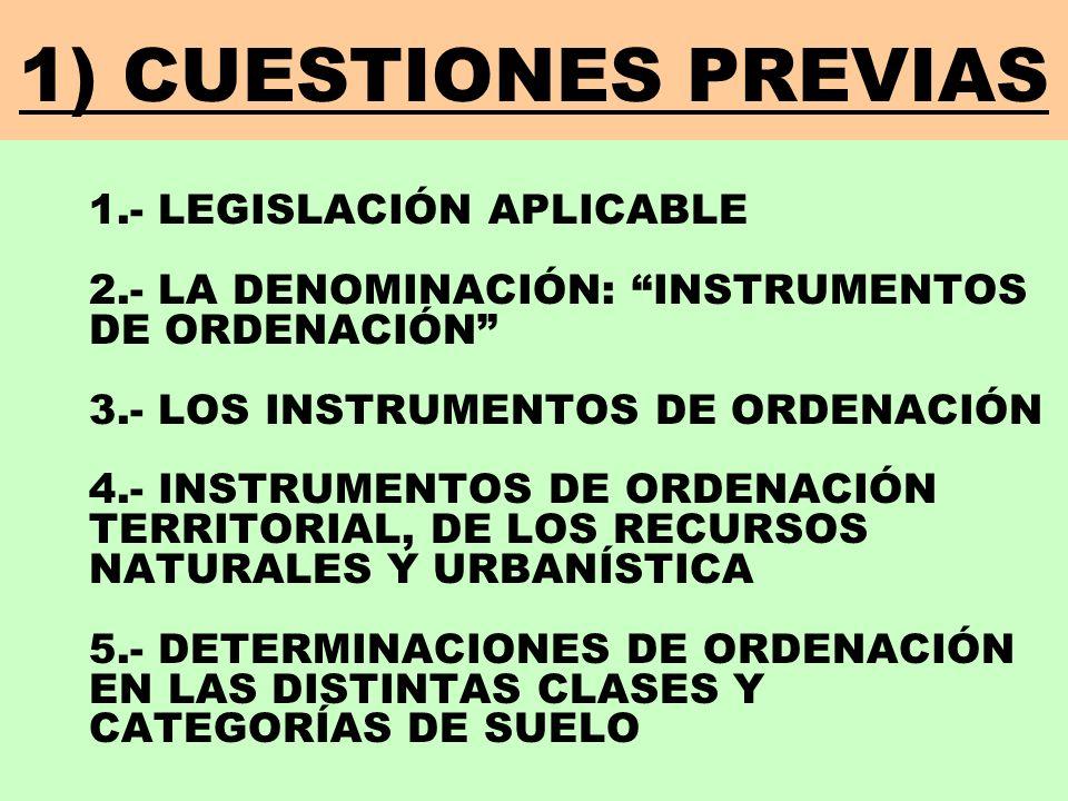 1) CUESTIONES PREVIAS
