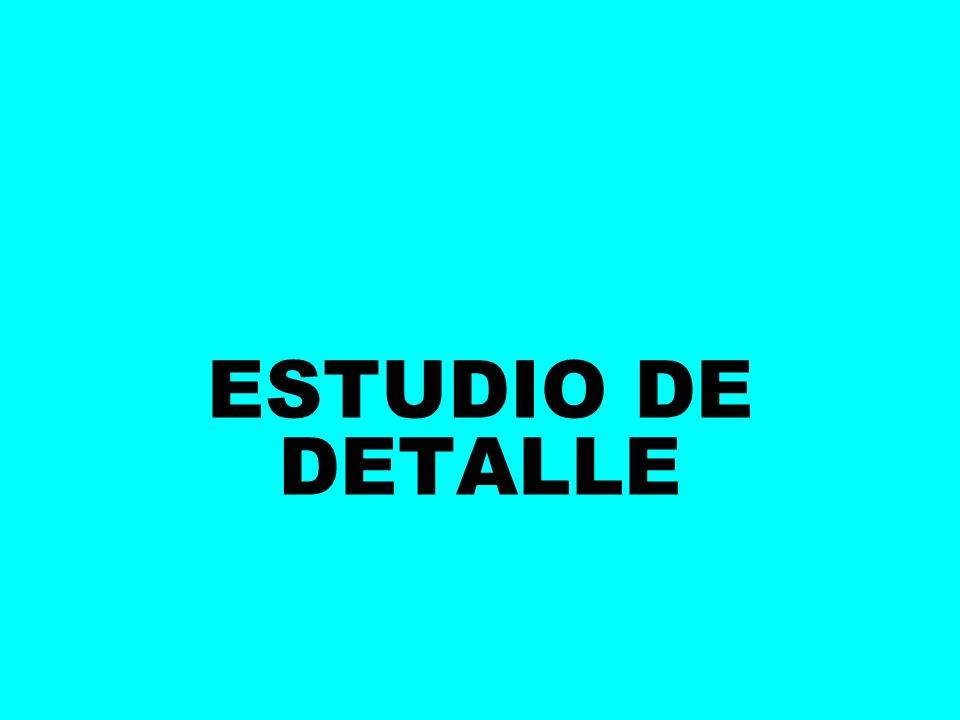 ESTUDIO DE DETALLE