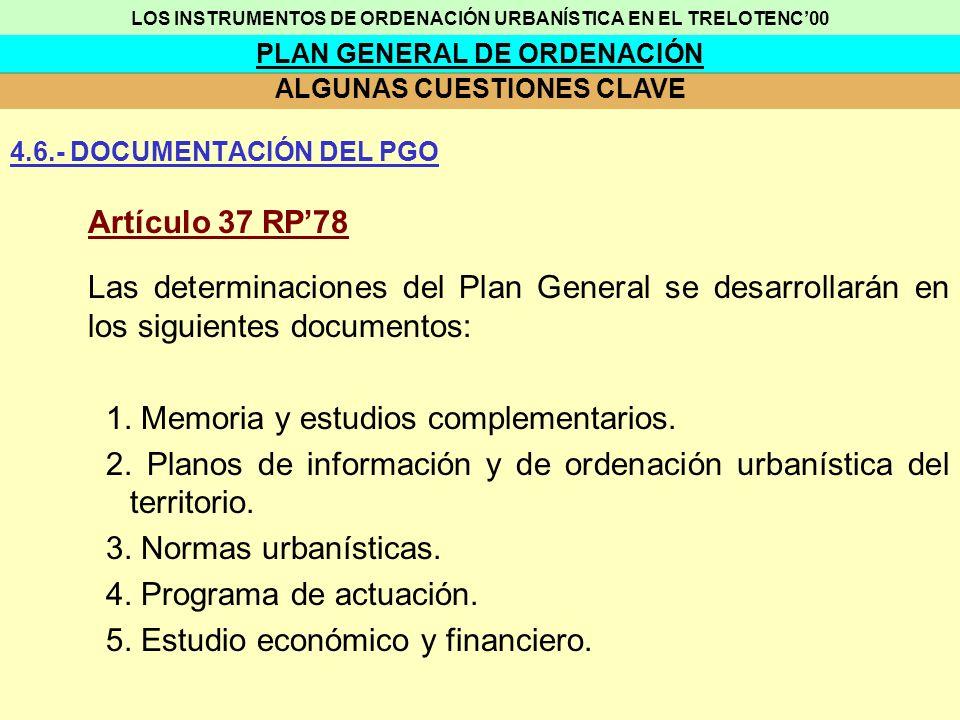 LOS INSTRUMENTOS DE ORDENACIÓN URBANÍSTICA EN EL TRELOTENC'00
