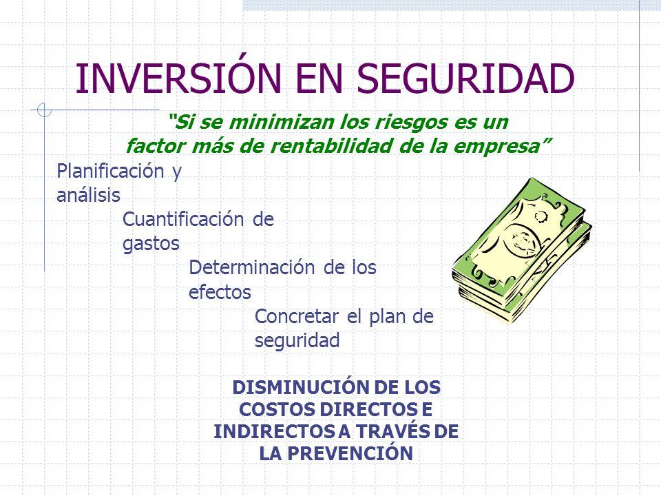 INVERSIÓN EN SEGURIDAD