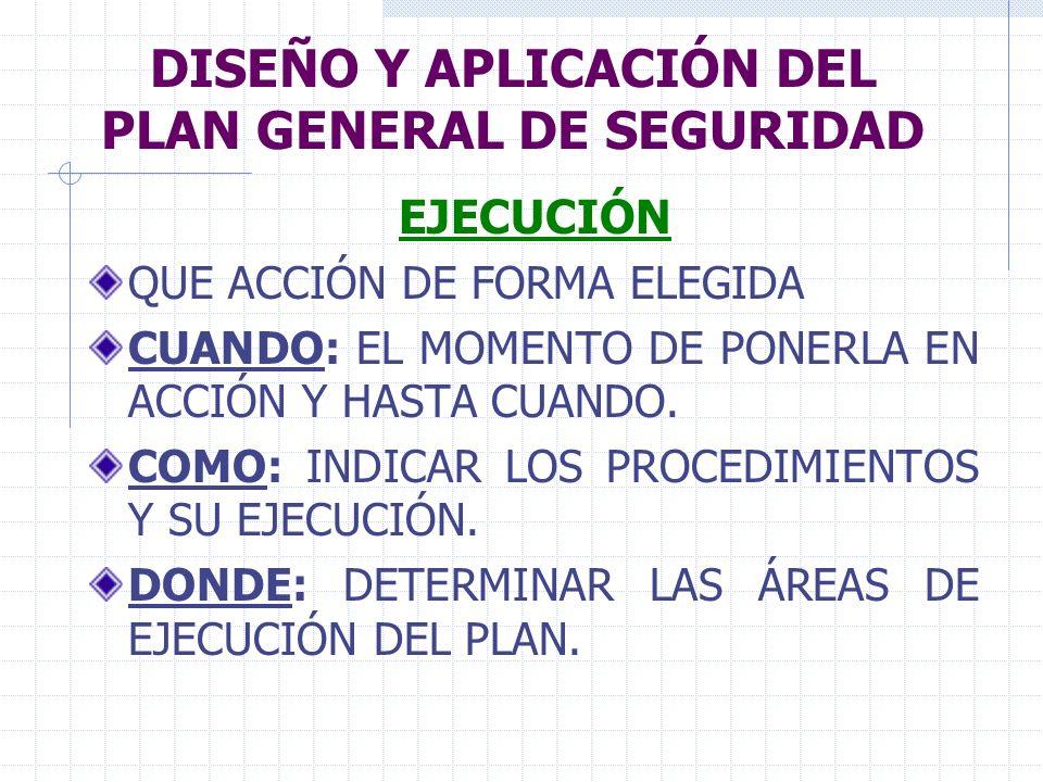 DISEÑO Y APLICACIÓN DEL PLAN GENERAL DE SEGURIDAD