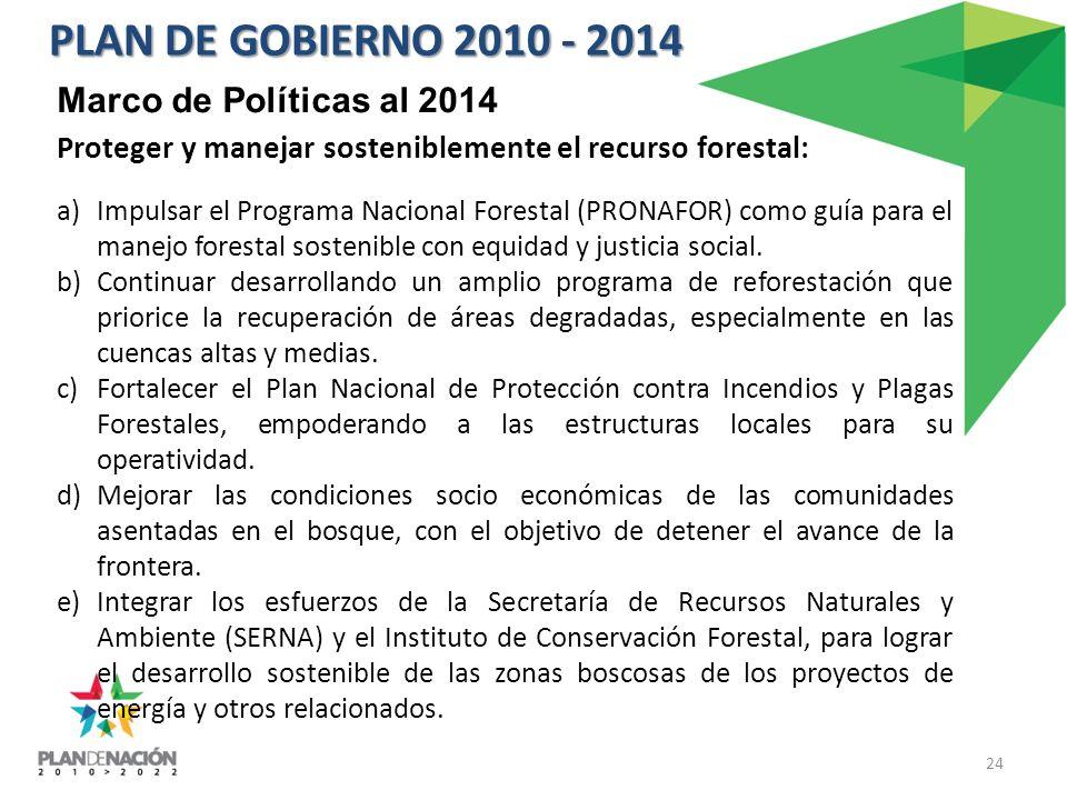PLAN DE GOBIERNO 2010 - 2014 Marco de Políticas al 2014