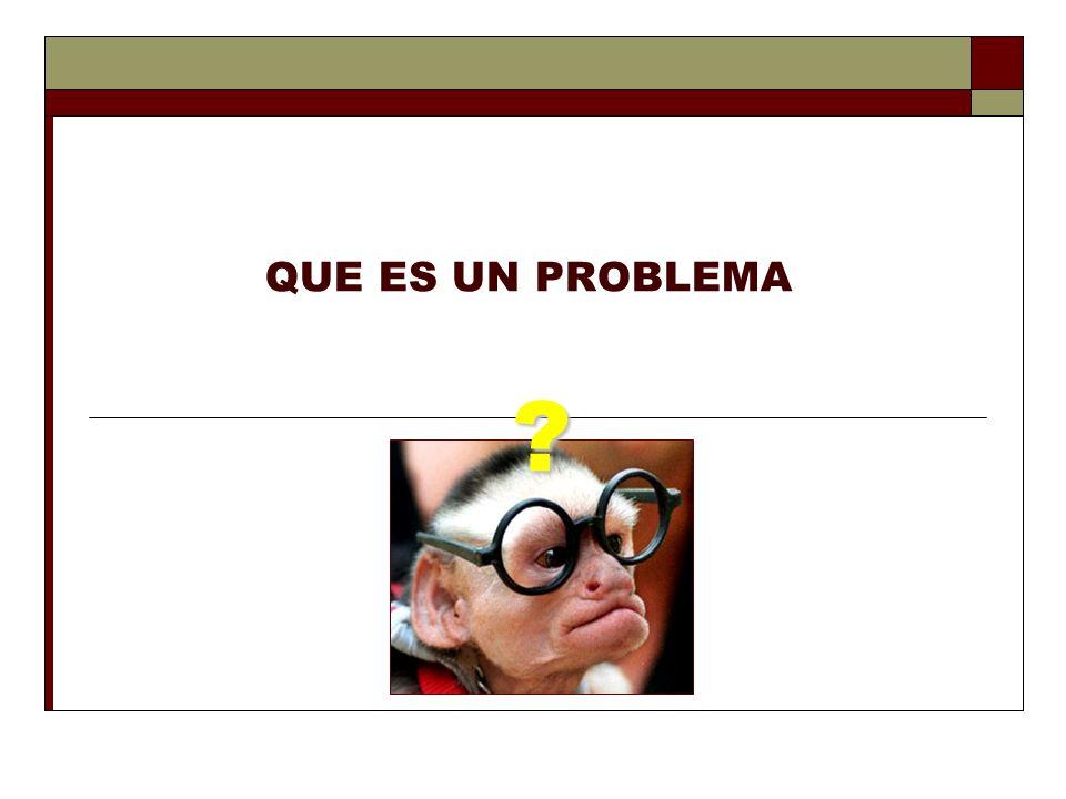QUE ES UN PROBLEMA