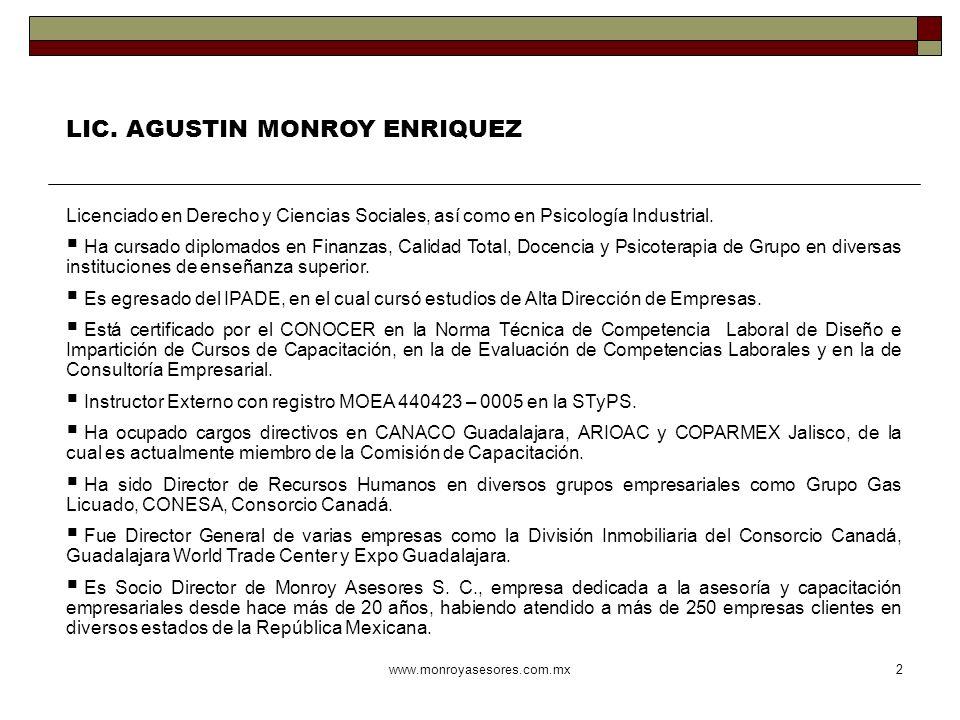 LIC. AGUSTIN MONROY ENRIQUEZ