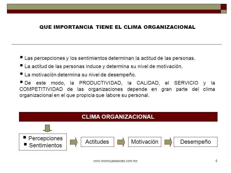 QUE IMPORTANCIA TIENE EL CLIMA ORGANIZACIONAL