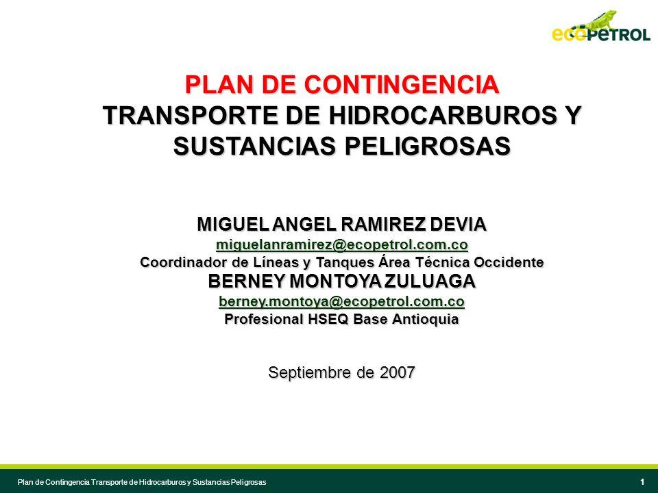 TRANSPORTE DE HIDROCARBUROS Y SUSTANCIAS PELIGROSAS