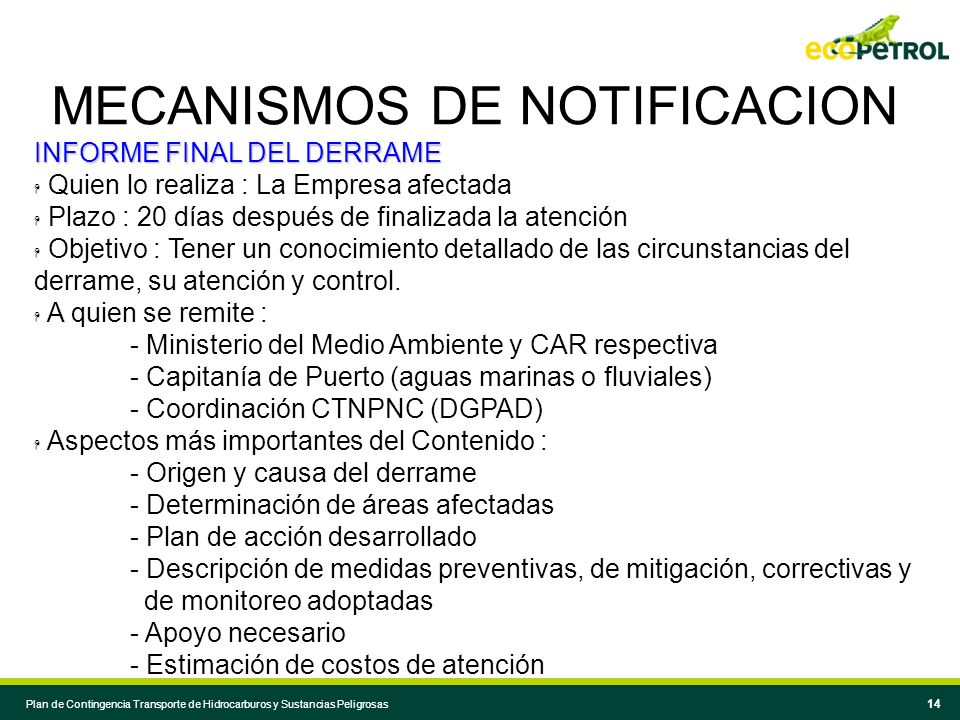 MECANISMOS DE NOTIFICACION