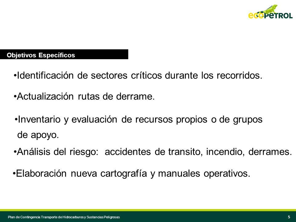 Identificación de sectores críticos durante los recorridos.